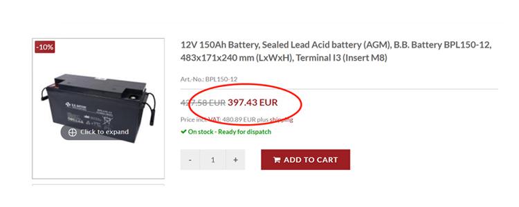 EUR price